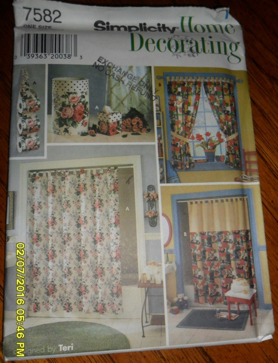 Https Www Etsy Com Listing 452469044 Simplicity Home Decorating Pattern 7582