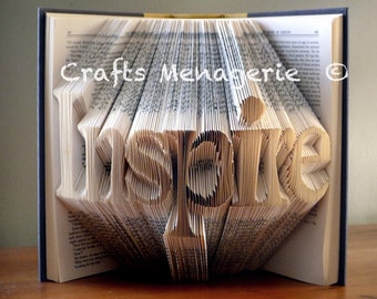 Inspiration/ Imagine/ Family Words - Bookfolding Gifts