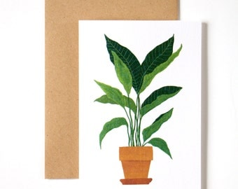Houseplant Card (4) 1pc
