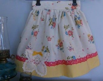 Girl's Size 6 Skirt, Vintage Size 6 Skirt, Upcycled Size 6 Skirt, Girl's Skirt