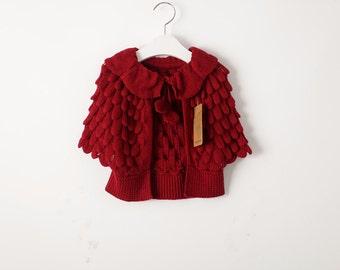 Sofia sweater coat in Red