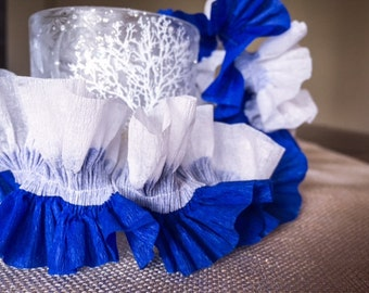 Ruffled Mini Crepe Paper Streamers in Assorted Colors of Your Choice