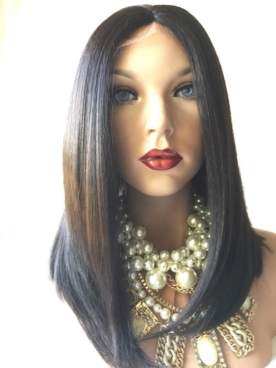 Off Black Hair Layered Lace Part Front Wig 12 by TurtlesCandy