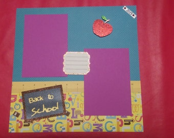 Back to School - 12 x 12 Scrapbook Layout