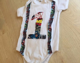 First Birthday Avengers Superhero Outfit