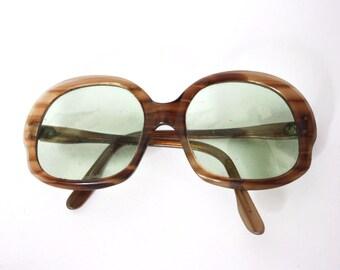 Vintage Sunglasses 1960s 1970s Oversized Mod Hippie Retro