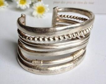 Cuff Paris Antigona vintage silver tin
