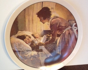 Knowles Norman Rockwell Mother's Day 1976 Plate