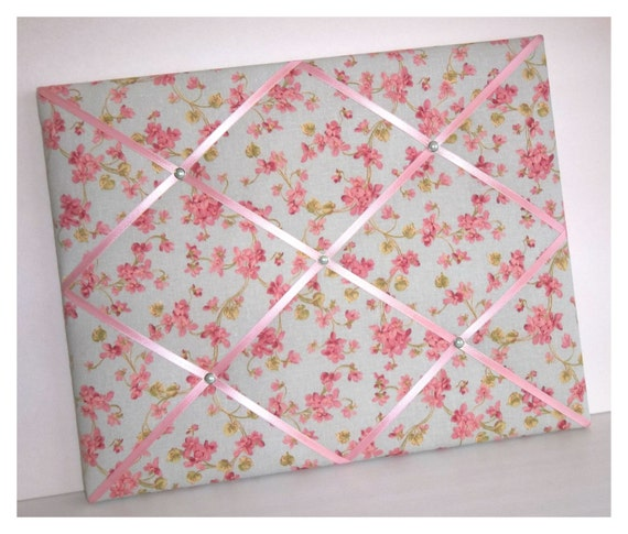 Cherry Blossom fabric ~ French Memo Board