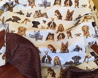 Curious Canine/Dog Blanket (with several different dogs)