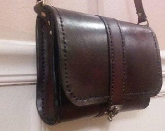 100 % leather crossbody bag