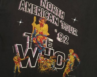 Vintage 1982 The Who Tour T-shirt