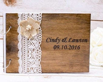 Wedding Guest Book wooden  Rustic Wedding Advice Book Vows Book Rustic Tree Bransh Pen Rustic Wedding Book Vow book