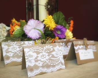 25 Lace Wedding Seating Cards