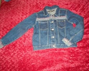 Girl's Embroidered Denim Jacket