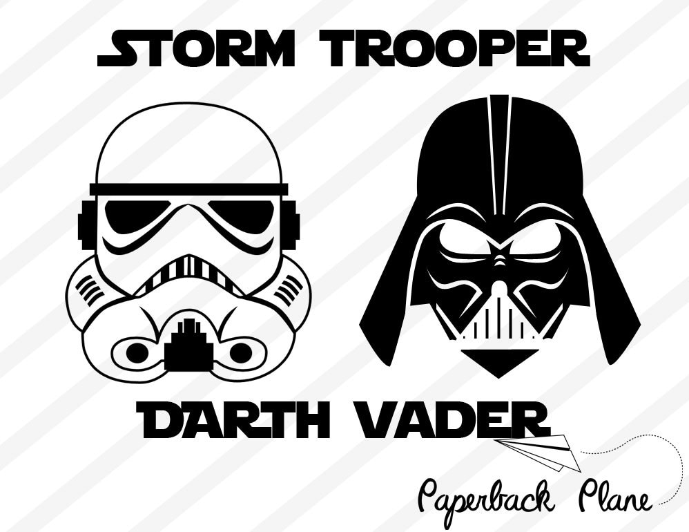 Storm Trooperdarth Vader Starwars Svg Png Dxf Cut Files