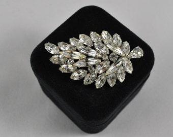 Weiss clear rhinestone brooch