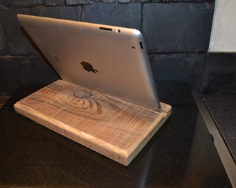 ipad stand , ipad wooden stand , ipad dock , shabby chic , upcycled , gift