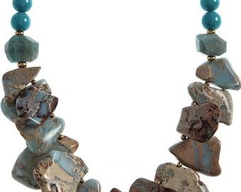 Lg Semi Precious Stone Necklace