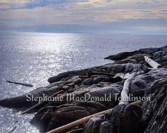 Fine Art Print Rocky Sea Shore