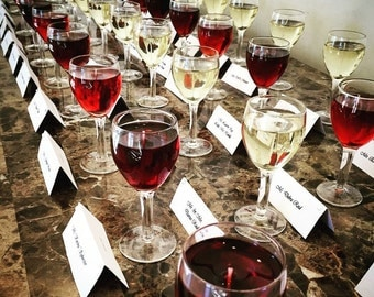 Miniature Wine Glass Candles