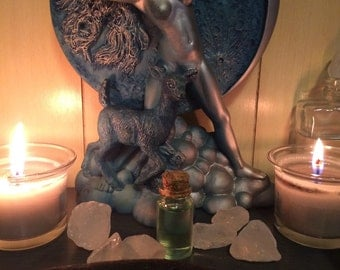 Artemis Diana Goddess of the Wild Moon Blessing Ritual Oil