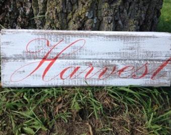 Harvest Repurposed Wood Sign Fall Decor