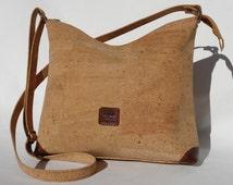 Cork Shoulder Bag/Handbag/Purse with leather detailing