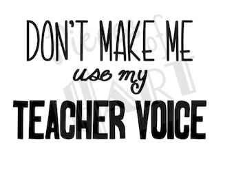 teacher voice mug decal