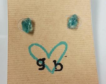 Blue apatite studs, apatite, apatite earrings