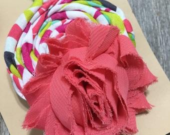 Shabby Chic Flower And Rosette Headband