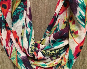 Lightweight Colorful Infinity Scarf