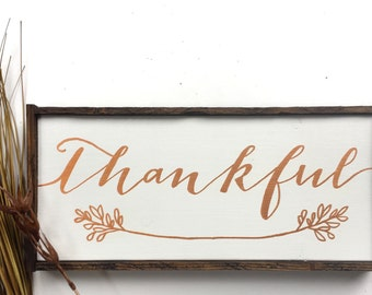 Thankful Handcrafted Wooden Sign