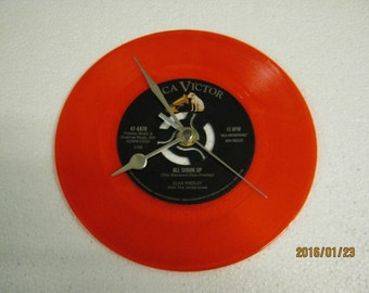 "Elvis Presley - ""All Shook Up"" Vinyl Record Wall Clock"
