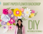 Full - Giant Paper Flower Backdrop  (Patterns and Tutorials)