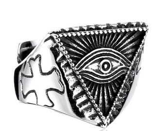 Eye of Providence ring stainless steel 316L for him and her