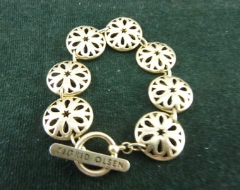 lovely Vintage Goldtone Bracelet by Sigrid Olsen