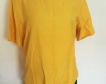 Vintage Yellow Cotton Boxy Shirt
