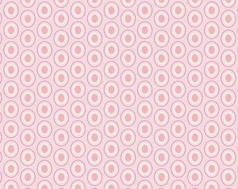 Oval Elements in Petal Pink - 1/2 Yard - Art Gallery Fabric
