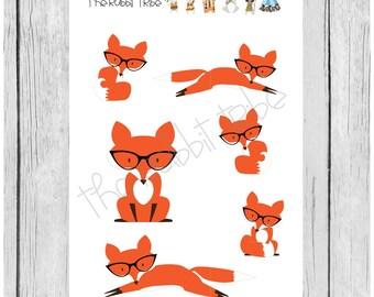 Mini Sticker Sheet - clever fox - planner stickers