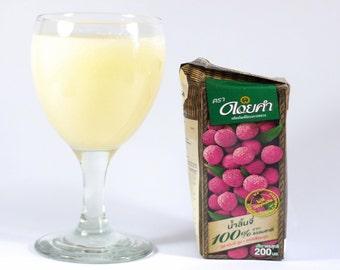 Litchi Fruit Juice Fresh Seeds Organic Lychee 100% Natural 200 ml