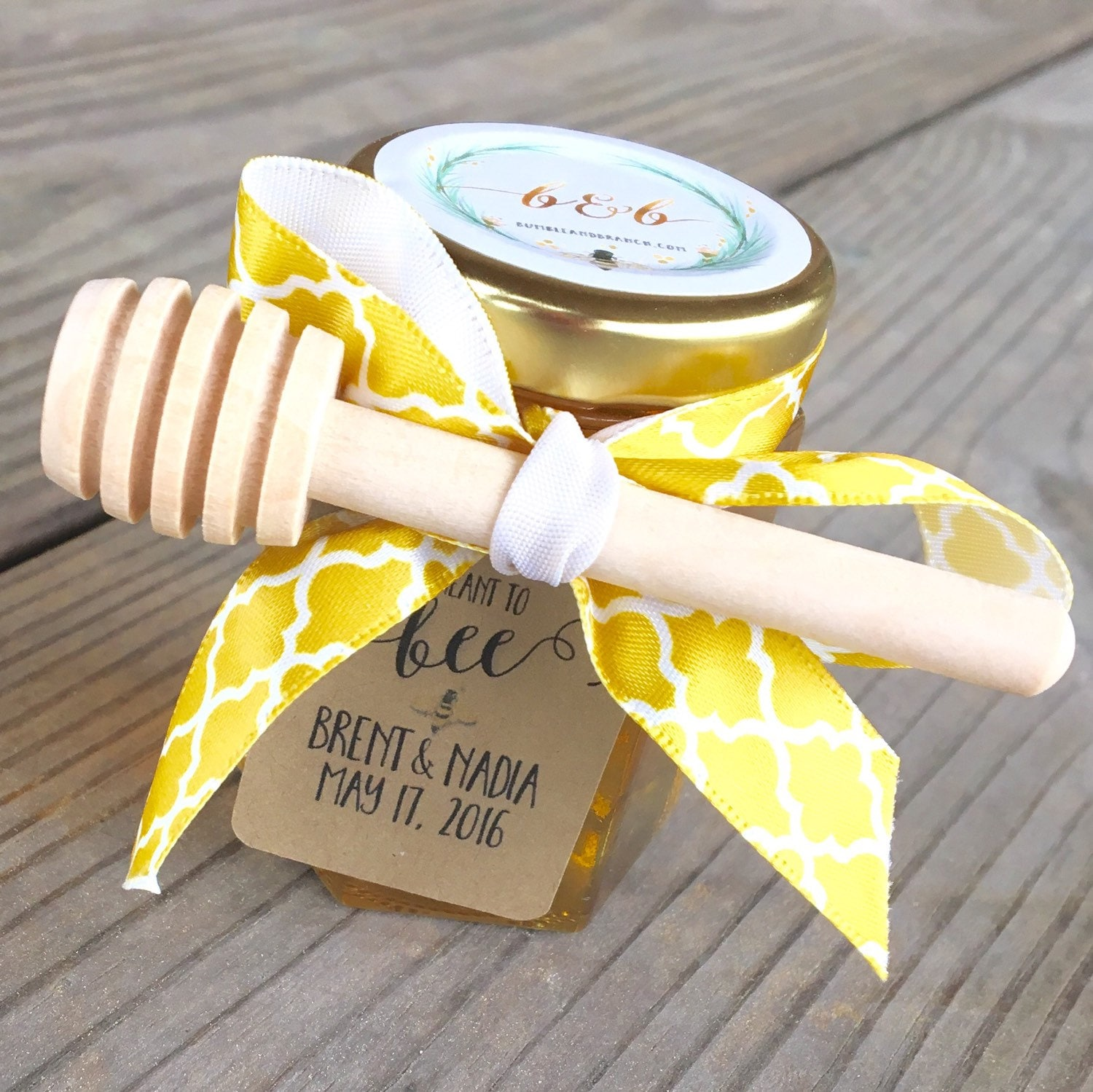 25 Meant To Bee Bride To Bee Honey Jar Wedding Favor Honey
