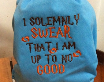"""Harry Potter inspired """"I solemnly Swear That I am up to no Good"""" AIO All-In-One One Size Cloth Diaper"""