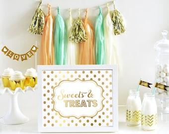 Personalized Metallic Foil Dessert Bar/Candy Bar Sign
