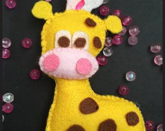 Felt Giraffe Plush Keychain