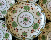 Antique England Coalport A.D. 1750. Porcelain Plate Set 14 Piece Coalport Crown Mark 1891-1919 John Rose
