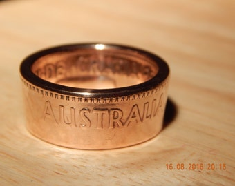 Coin Ring 1956 Austrailian Penny