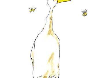 Limited Edition A3 Buzzy Bee's Duck Print