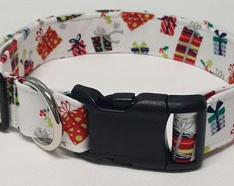 dog collar, Santa's Sack, christmas dog collar, holiday dog collar, christmas collar, holiday collar, santa dog collar, santa collar, xmas