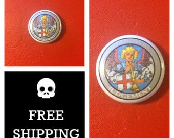 "Tarot Card - Judgement 1"" Button Pin, FREE SHIPPING"